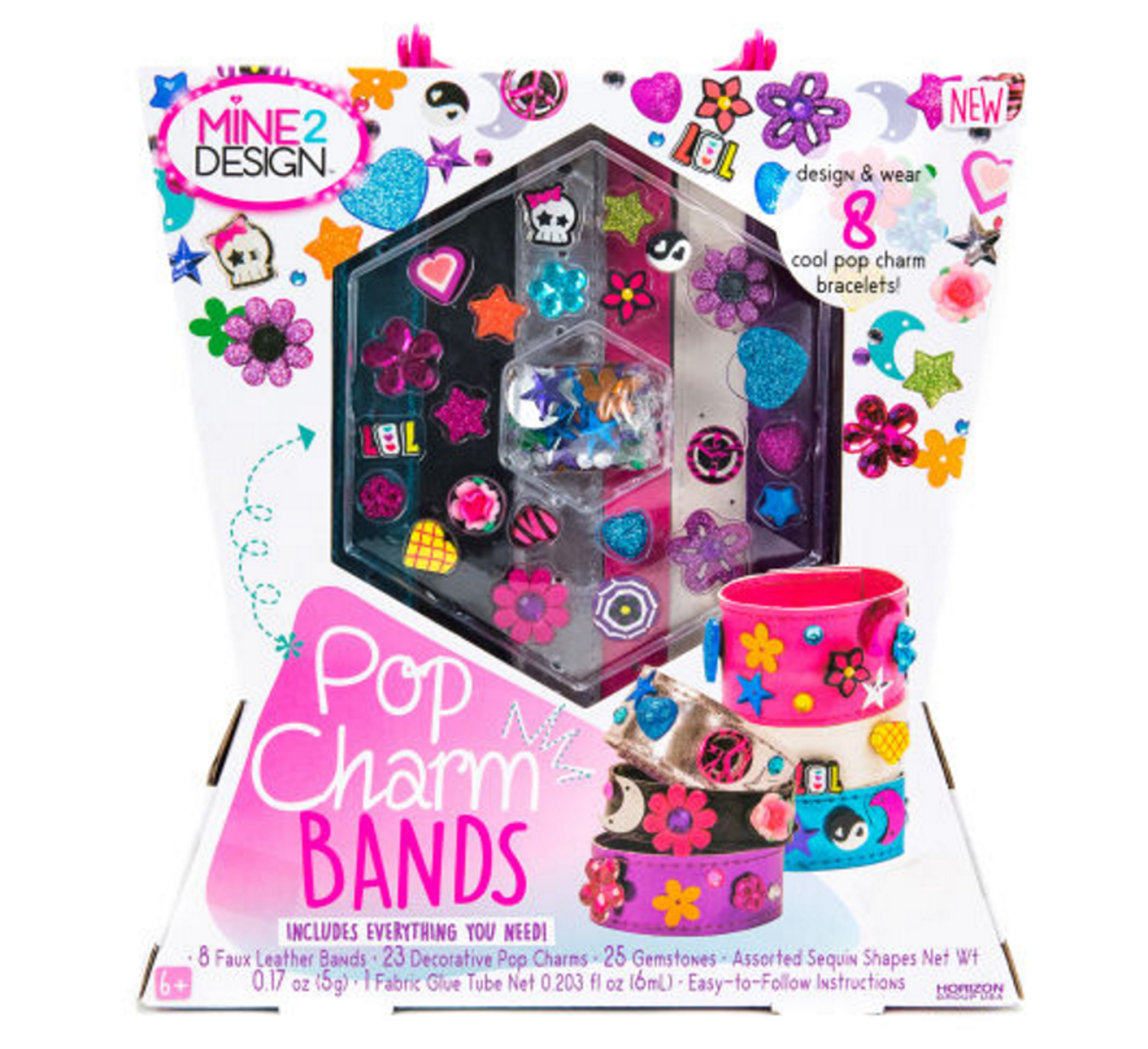 This Kites With Everything Needed To Create Trendy Bracelets, Including  Colorful Faux Leather Bands
